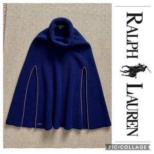 Ralph Lauren Cape Shawl Sweater Turtleneck Medium